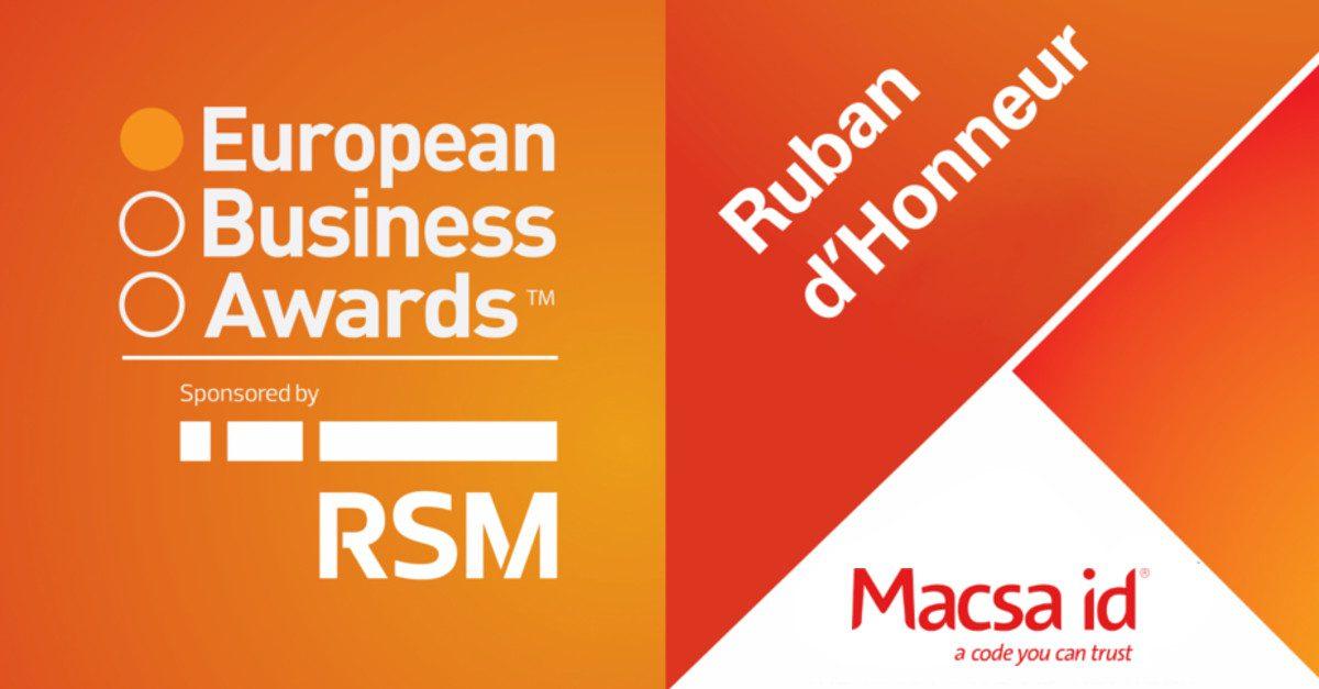 Macsa ID obtiene el premio 'Ruban d'Honneur' en los European Business Awards 2014/15