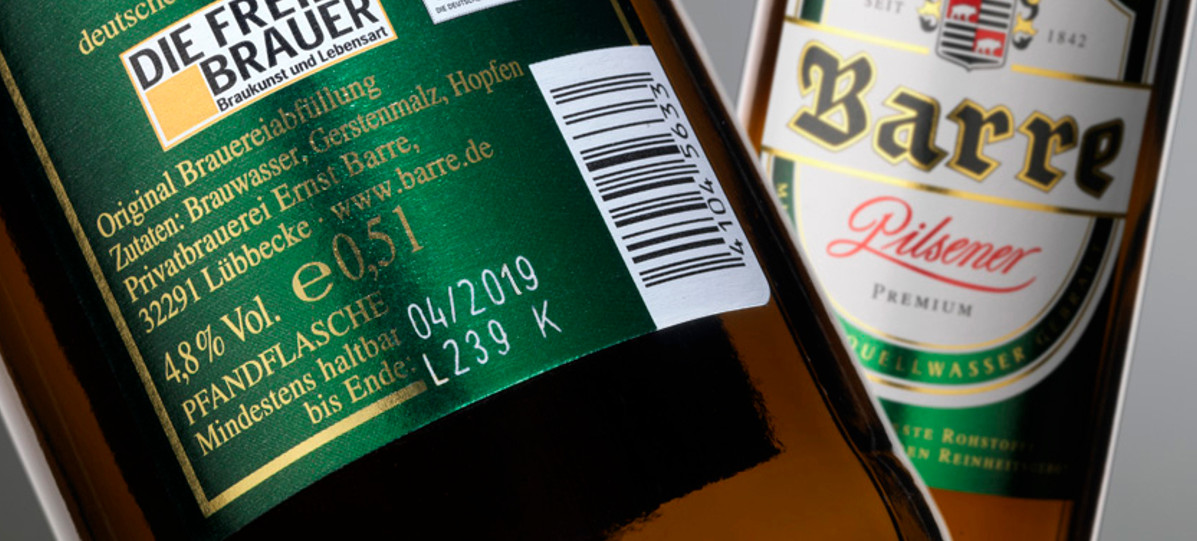 Barre Brauerei – Metallized labels
