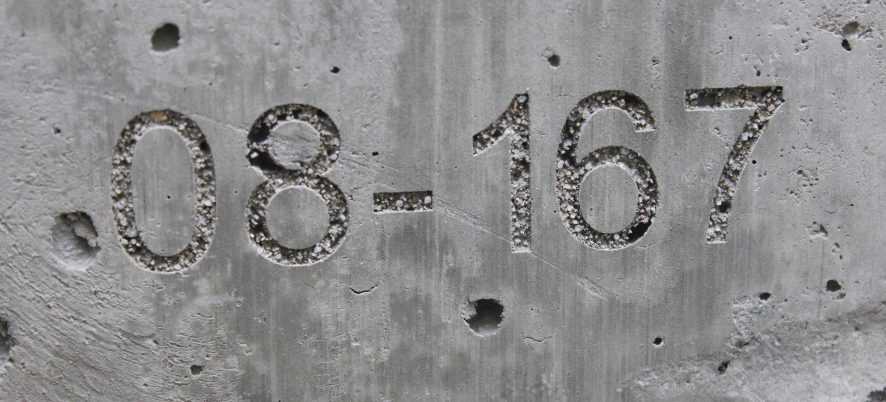 Laser marking on concrete
