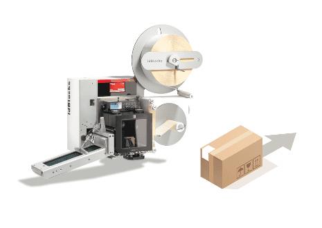 Impresión y aplicado de etiquetas por correas en esquinas