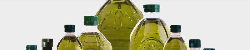 Etiquetado de palés con botellas de plástico de aceite