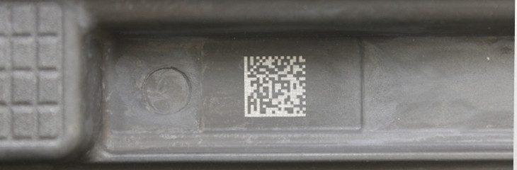Marcaje de un datamatrix sobre pieza de aluminio