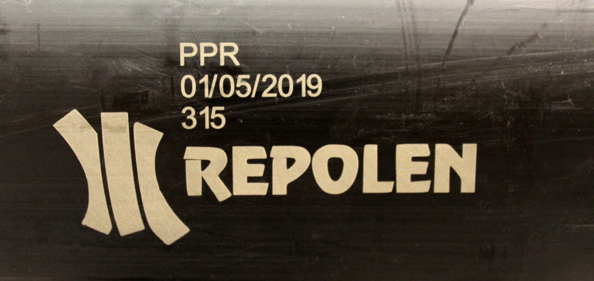Laser marking on recycled polymer pipe