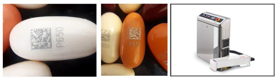 codificación láser píldoras
