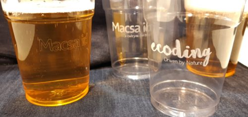 Laser marking on PET cups