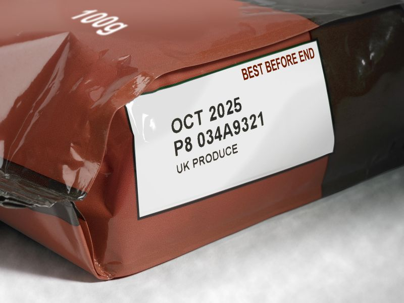Codificación en embalajes flexibles, etiquetas y cartulinas por transferéncia térmica.