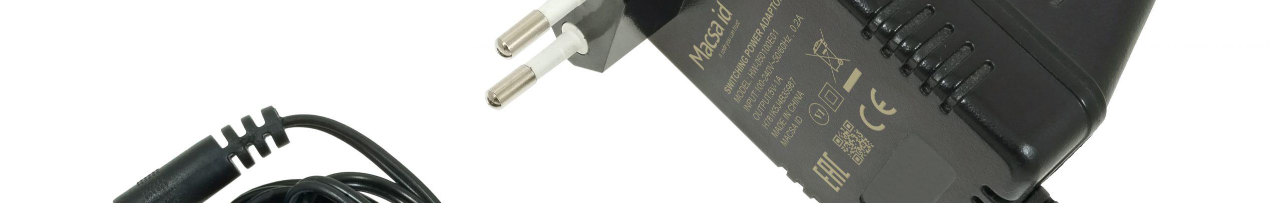Personalización y marcaje láser de transformadores enchufables