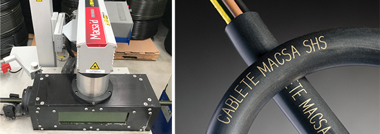Laser marking of pipes