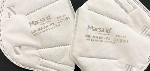 Laser marking of FFP2 surgical masks