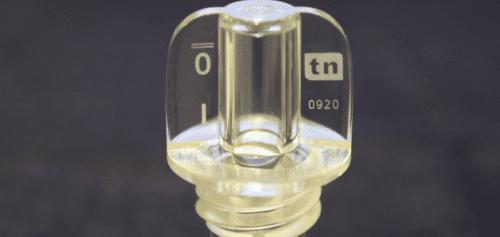 Clear cap laser marking
