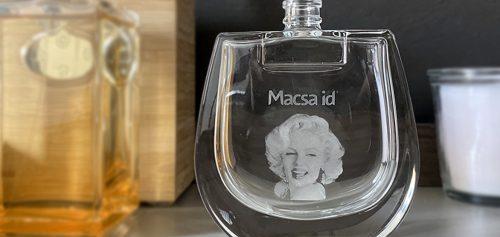 Glass bottle laser marking